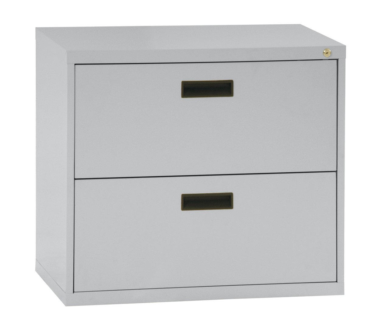 Sandusky 400 Series Dove Gray Steel Lateral File Cabinet With Plastic Handle 30 Width