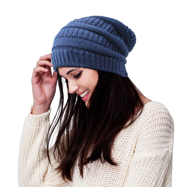 Get Quotations · BIZAR Winter Unisex Knitting Hat Turban Brim Hat Cap Wool  Daily Warm Soft Slouchy Beanie Skull 4c044439cbf2