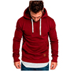 100% Heavy Warm Cotton knitted Pullover sweatshirt hoodies Mens Custom streetwear blank men's hoodies
