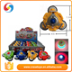 Three wheel toy peg-top light and music 4 color option
