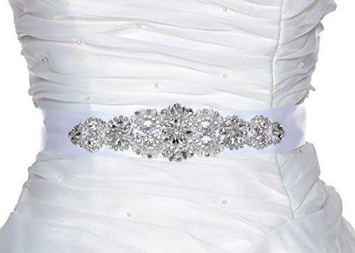 White Crystal Bridal Sash - Wedding Dress Sash Belt - White Rhinestone Crystal Wedding Sash - White Rhinestone Crystal Bridal Sash