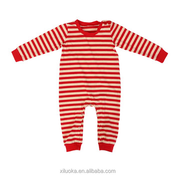 2db64cfa5f87 Stripe Baby Pajamas Newborn Clothing Christmas Clothes For Boys ...