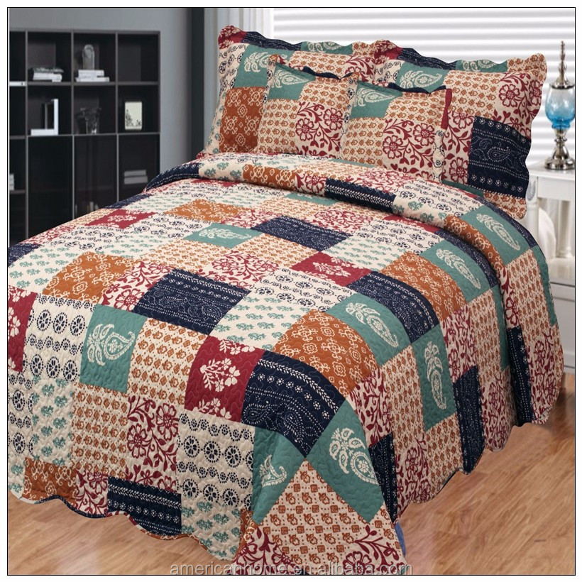 Wholesale Cal King Size Kantha Bed Cover Patchwork Quilts - Buy ... : king size patchwork quilt - Adamdwight.com