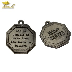 Metal Badge Tag Pin New Design Gold Pendant Custom Pendant