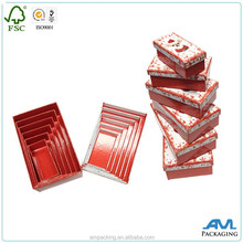 Luxury 2 pieces nested paper rigid custom retail gift boxes stock storage wholesale