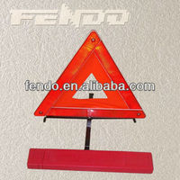 reflective road warning triangle for traffic safety