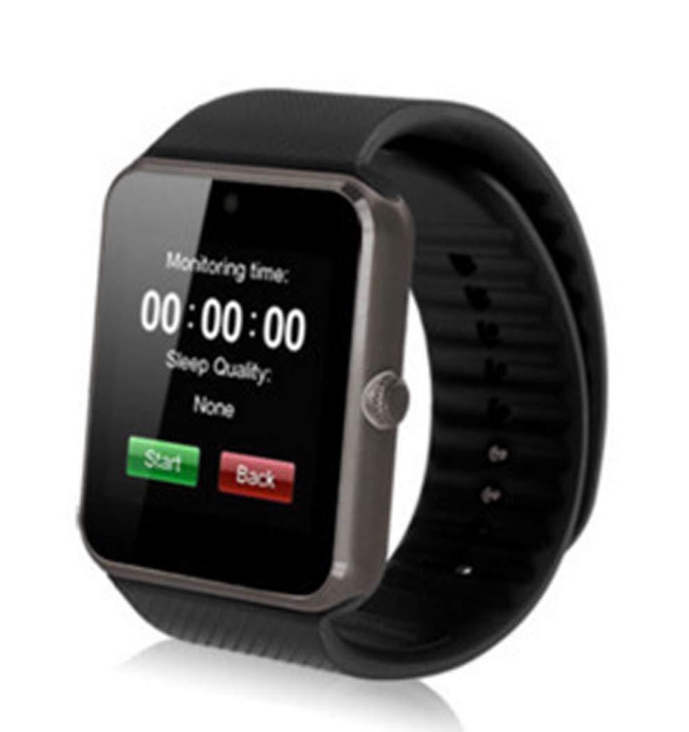YWY Smart Watch Fitness Tracker Bluetooth Pedometer Waterproof Touch Screen Wristband Sleep Monitor Fitness Smart Wristband (Color : Black)