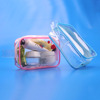 Necessaries waterproof small vinyl pvc clear travel cosmetic bag