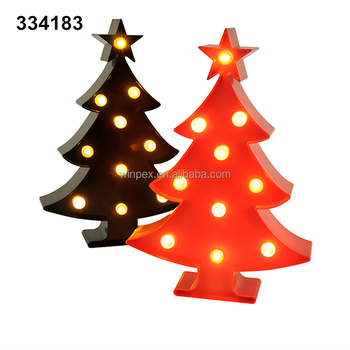 holiday decorative plastic led marquee sign light christmas tree light