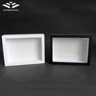 New design no nails customized wooden 3d black/ white photo frame
