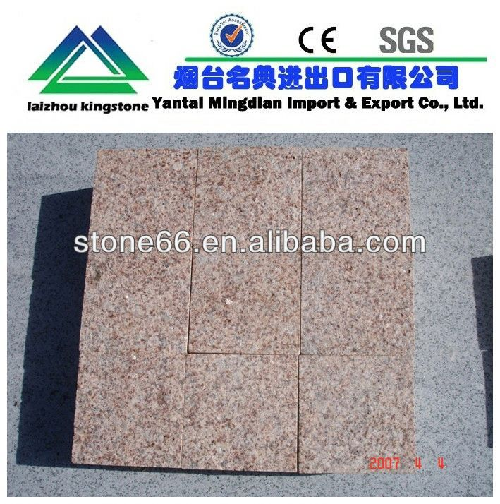 CE and SGS red porphyry paving stones During the year sales promotion