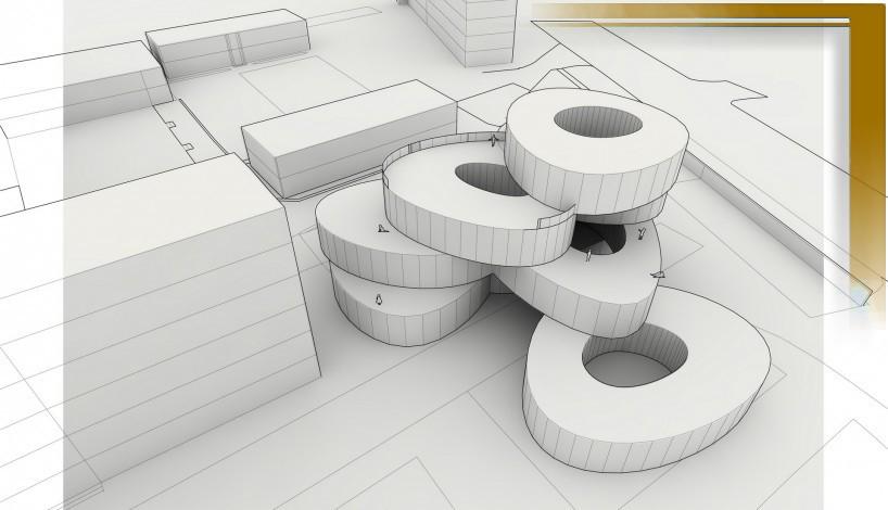 Urban Design Digital Drawing 3d Rendering Drawing