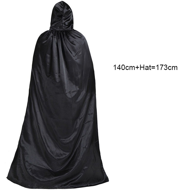 Adulte noir manteau robe assistant mort vampires cosplay costume