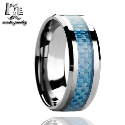 Walmart Fashion Jewelry Light Blue Carbon Fiber Inlay Tungsten Carbide Rings For Women 8mm Wedding Bands Buy Tungsten Carbide Rings Tungsten Carbide