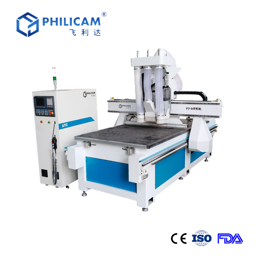 Philicam FLDM1325 vacuum table woodworking cnc router for cabinet doors