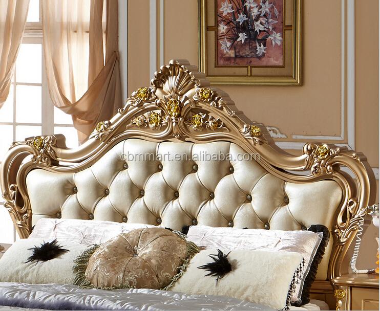 Antigua cabecera tallada con pan de oro cama de dise o for Camas plegables diseno italiano