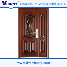 Latest hot sale model design sound proof virony exterior door steel