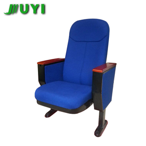 JY-615S Wholesale Stacking Wooden With Arms Theater Seating Chairs Outdoor Chair Used For Church Home Theater Seats