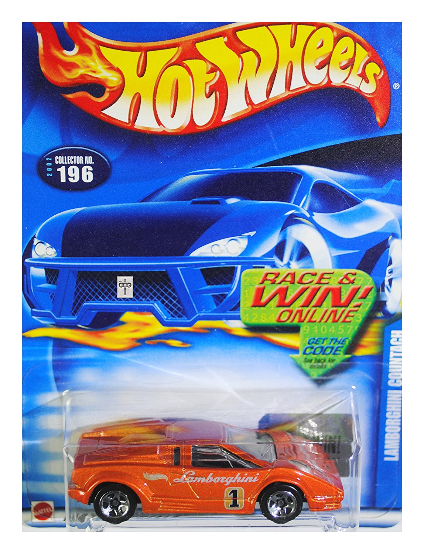 2002 Hot Wheels Lamborghini Countach Orange #196 Rare!