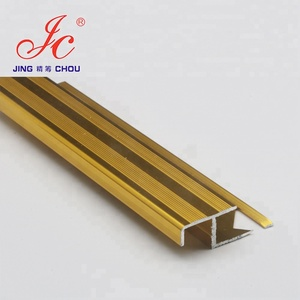 HOT! Good view use widely gold colour anodized aluminum tile trim for ceramic border