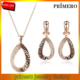 PRIMERO 2015 punk Rose gold plated Austria crystal pendant necklace earrings bridal jewelry set party luxury jewellery promotion