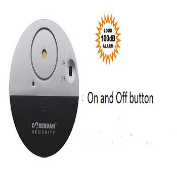 window with the Security Ultra-Slim Window Alarm vibration sensor Door and window alarms security Fangzei thin circular vibrati