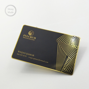 Promotional Metal Business Card gold hot foil stamp printing cards, cheap metal business cards personalized