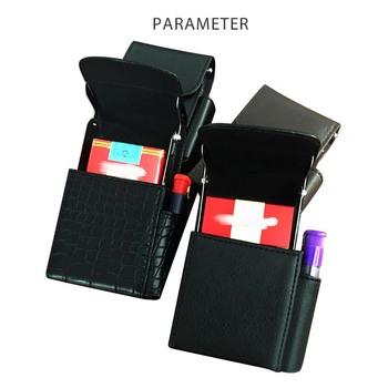 the latest b2e1c d2c0f Convenient Portable Leather Cigarette Case Wallet Stainless Steel Cigarette  Case Cigarette Case With Lighter Holder Pouch - Buy Cigarette Case,Leather  ...