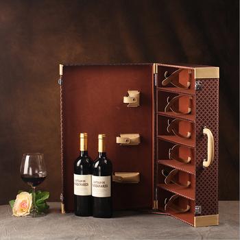 leather and wine custom wine gift boxes wholesalefancy leather wine boxhigh
