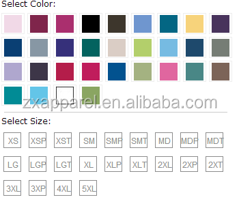 select color and size