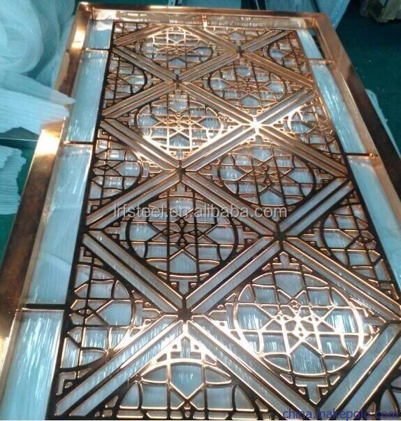 Foshan factory laser cut metal stainless steel partition screen with different designs