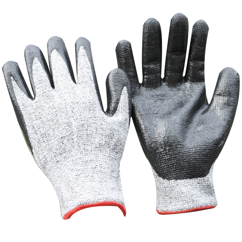 NMSAFETY pig factory use 13g nitrile cut resistant labor gloves