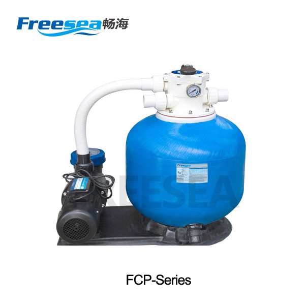 inground sand filter pump/ integrated swimming pool pump and filter