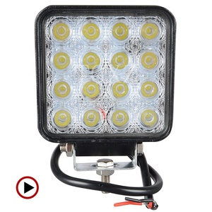 Hot sale super bright square 48w led 12v offroad led work light for car