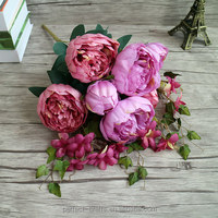 High Quality Artificial Flowers Silk Peony Flower For Wedding Decoration