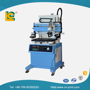 semi-auto micro adjustment cd silk screen printer with vacuum table