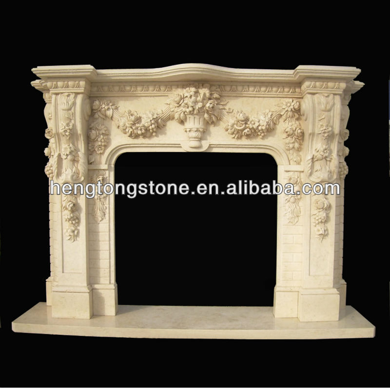 Marmol artificial repisa de la chimenea con talla de - Repisas de marmol ...