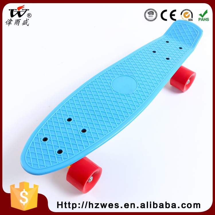 New Products 70kgs Top ABS Deck Material OEM Fish Shape Skateboard