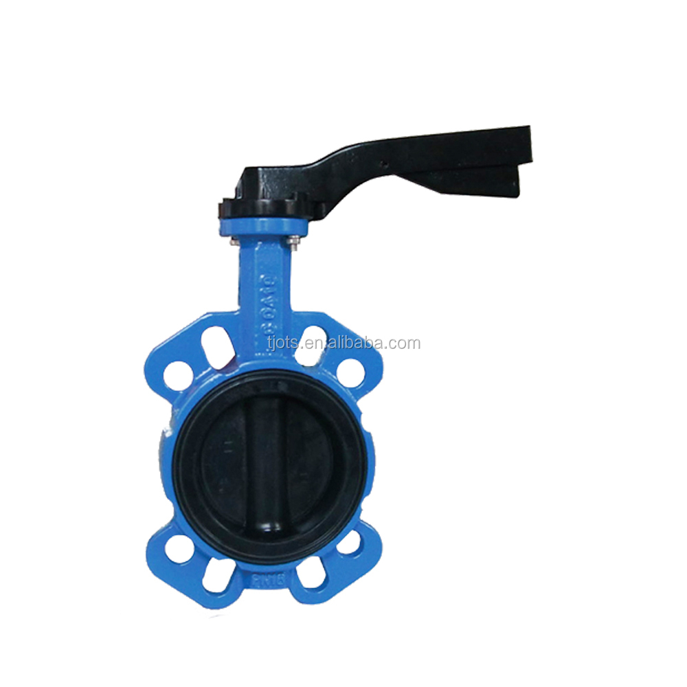 BV-SY-497 Best price single/double acting pneumatic control actuator wafer butterfly valve Dn50-300