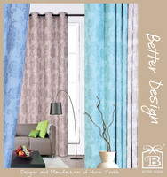 1pc blue/taupe/teal/beige color jacquard blackout office jacquard curtain fabric