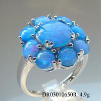 Tanzanite,Blue Fire Opal 925 Sterling Silver Ring Jewellery