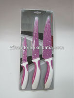 3pcs non stick color knife set