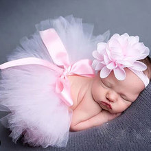 Pettiskirt Newborn Photography Props Infant Costume Outfit Princess Baby Tutu Skirt Headband Baby Photography Props