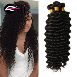 Natural hair extension human remy,unprocessed wholesale brazilian virgin hair, deep wave human hair for braiding