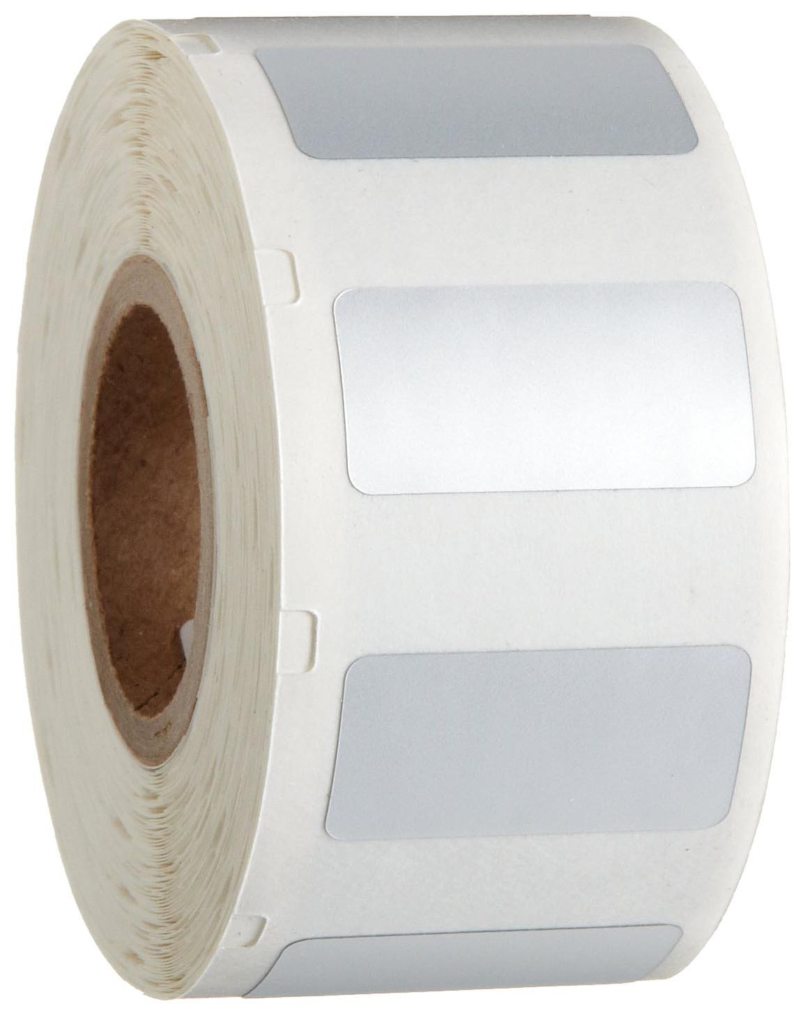 "Brady CL-311-969 I.D. PRO Plus LS2000 And BradyMarker 1/2"" Height, 1"" Width, B-969 Metalized Polyester Silver Color XC Plus Printer Label (500 Per Roll)"