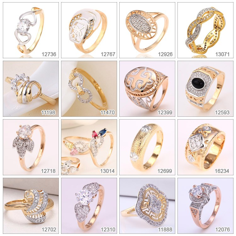 14927 Xuping promotional fashion jewelry flower butterfly designed gold finger ring