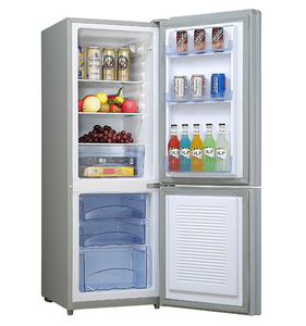 BCD-162 162liters made in china low power consumption double door combi bottom-freezer fridge refrigerator