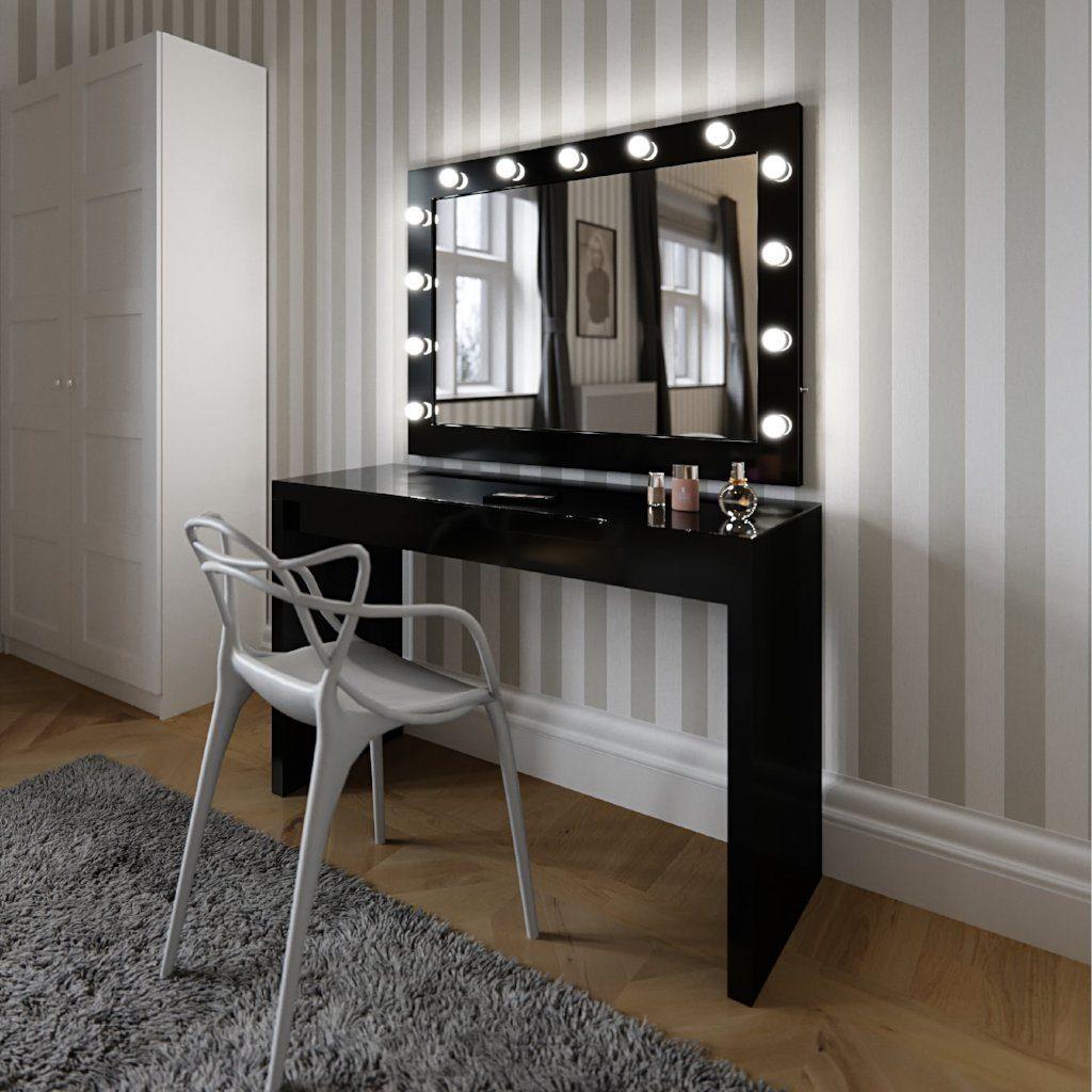 Simple 흰 색 .... .... 화장대 와 현대 Design 메이 컵 Mirror 빛