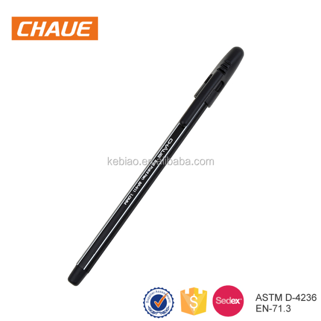 Cheap Promotional 1.0mm Black Economic Plastic Ballpoint Pen