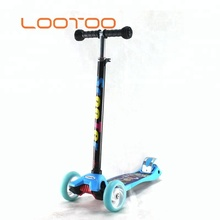 Factory cheap price CE certificate 3-wheels foldable foot pedal kick scooter for children
